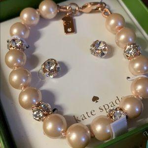 Kate spade bracelet and earring set